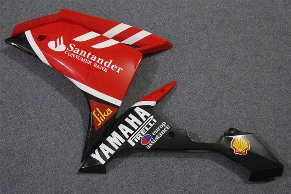 Пластик на мотоцикл Yamaha YZF-R1 07-08 Красно-Черный Santander-6