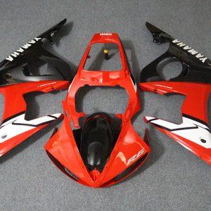 Пластик на мотоцикл Yamaha YZF-R6 05 Красно-Черный