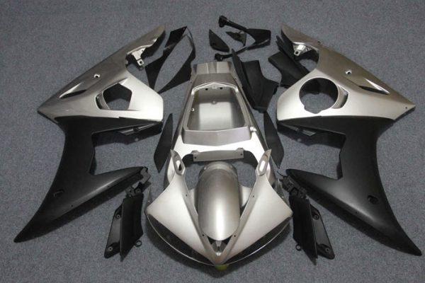 Пластик на мотоцикл Yamaha YZF-R6 05 Черно-Серый