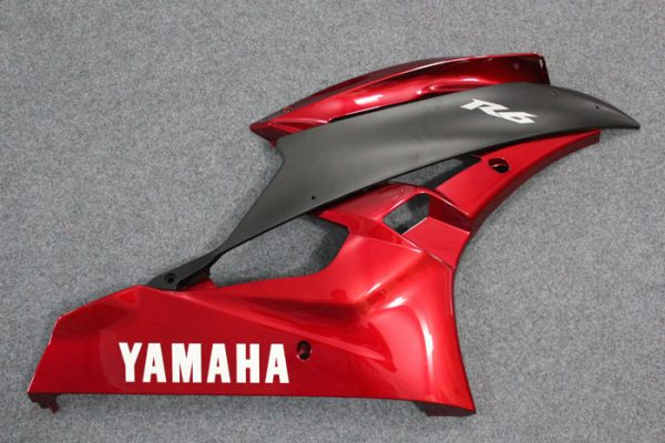 Пластик на мотоцикл Yamaha YZF-R6 2006-2007 Красно-Черный-6