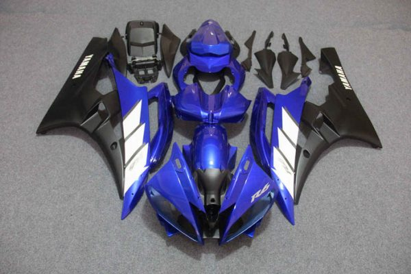 Пластик на мотоцикл Yamaha YZF-R6 2006-2007 Сине-Белый-2