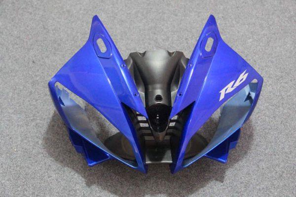 Пластик на мотоцикл Yamaha YZF-R6 2006-2007 Сине-Белый-2-7