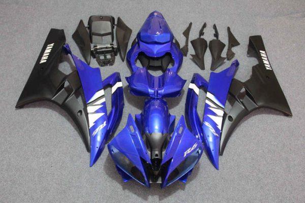 Пластик на мотоцикл Yamaha YZF-R6 2006-2007 Сине-Белый Color+
