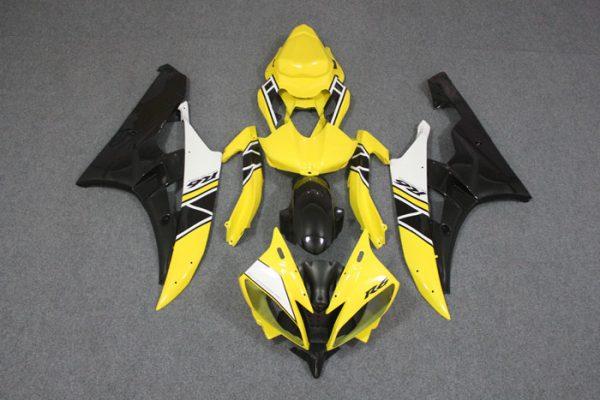 Пластик на мотоцикл Yamaha YZF-R6 2006-2007 Желтый Limited 50th