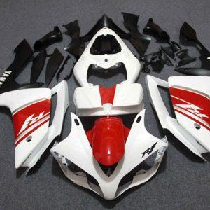 Пластик на мотоцикл Yamaha YZF-R1 07-08 Красно-бело-Черный