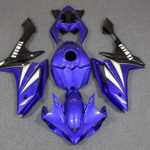 Пластик на мотоцикл Yamaha YZF-R1 07-08 Сине-Бело-Черный
