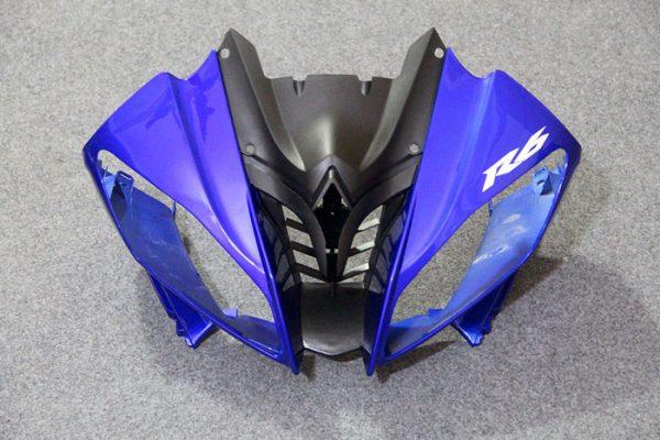 Пластик на мотоцикл Yamaha YZF-R6 2008-2015 Сине-Бело-Черный-1