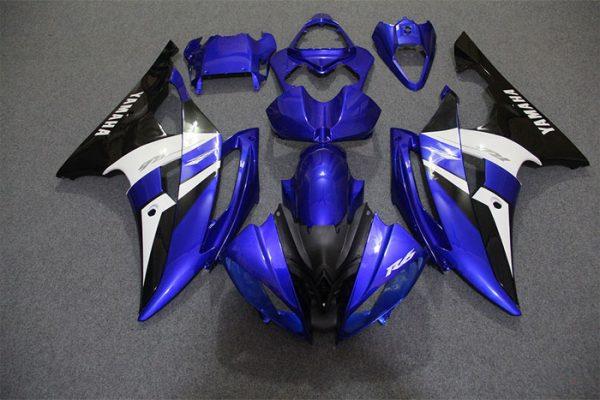 Пластик на мотоцикл Yamaha YZF-R6 2008-2015 Сине-Бело-Черный