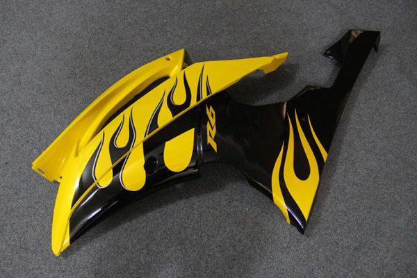 Пластик на мотоцикл Yamaha YZF-R6 2008-2015 Черно-Желтый-2