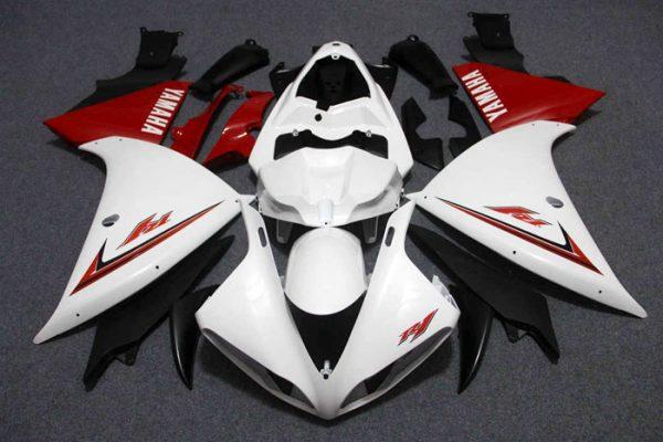 Пластик на мотоцикл Yamaha YZF-R1 09-11 Бело-Красный