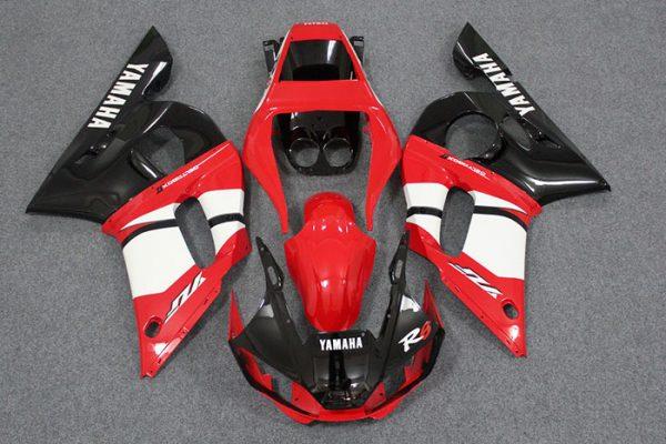 Пластик на мотоцикл Yamaha YZF-R6 1999-2002 Красно-Черный