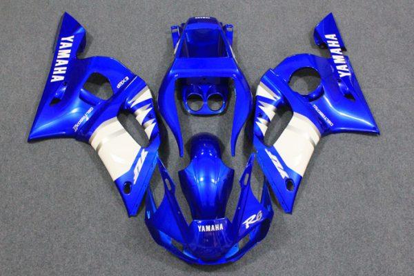 Пластик на мотоцикл Yamaha YZF-R6 1999-2002 Color+ Сине-Белый